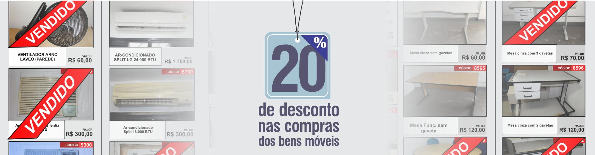 20 porcento desconto nos Bens